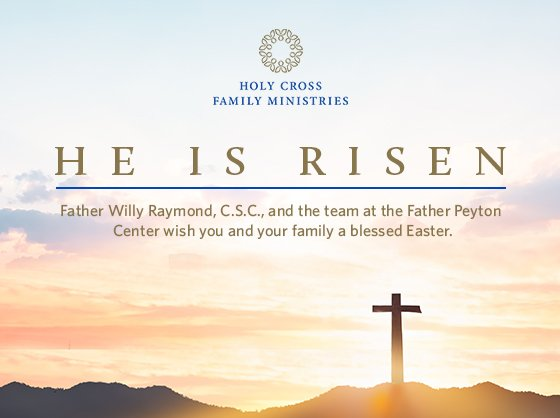 """Easter, the Risen Lord, says, """"YES,"""" to life, """"YES"""" to life without the virus; """"YES,"""" to life without dominating others; """"YES"""" to the family; """"YES,"""" to life with Christ! """"YES"""" to the Risen Lord, now and forever! Amen! Alleluia!     Father Willy Easter message blog, Saturday 4/3/21, will go live at 5:30 pm Eastern time"""